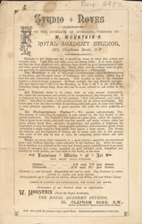 Advertisement for the Royal Academy Studios of photographer, W Mountain